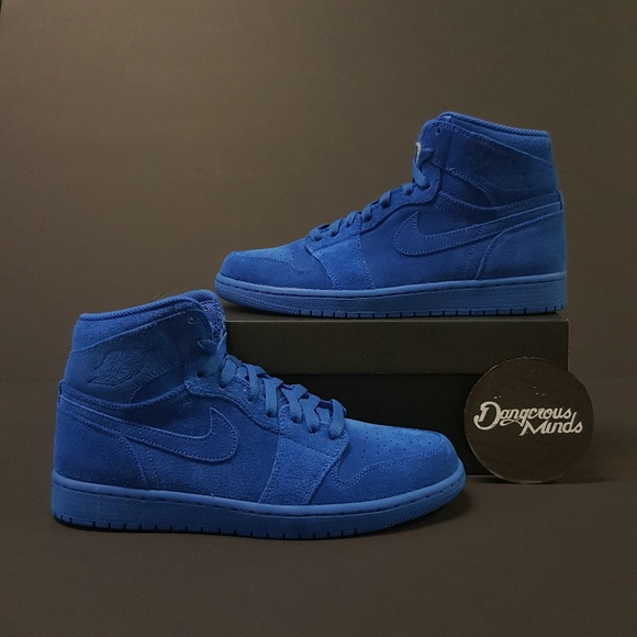 addc3c742b3 Air Jordan 1 Retro High Blue Suede NWT